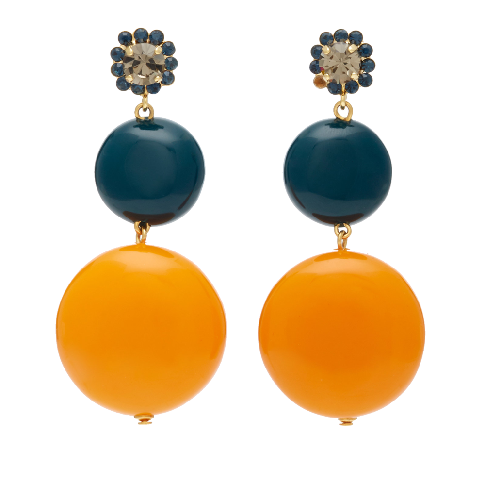 marni marigold + teal earrings