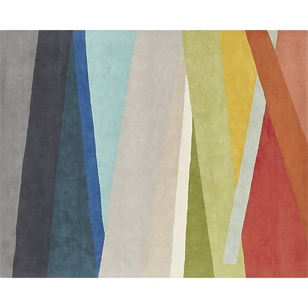 cb2 multicolored rug