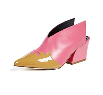 tibi pink cowboy mules