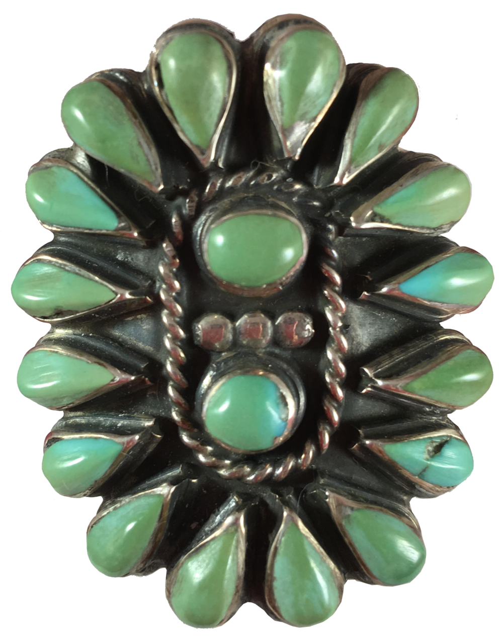 antique turquoise statement ring