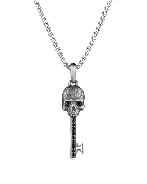 david yurman skull key necklace
