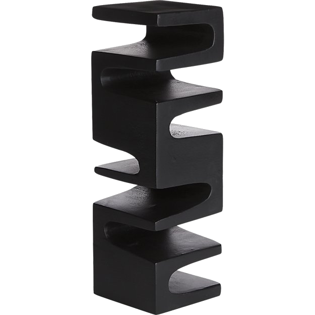 cb2 black sculpture