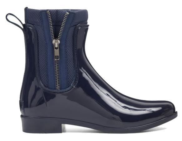 navy rain booties