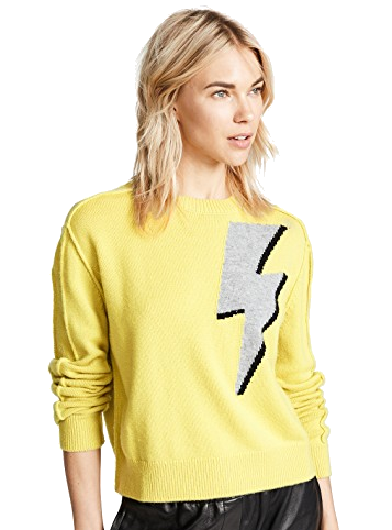 yellow lightning cashmere sweater