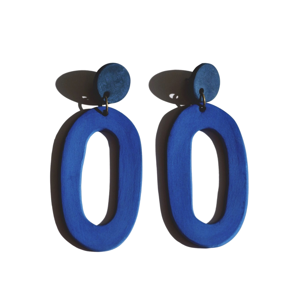 her new tribe cobalt earrings