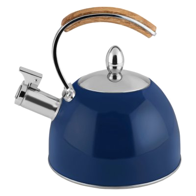 navy blue tea kettle