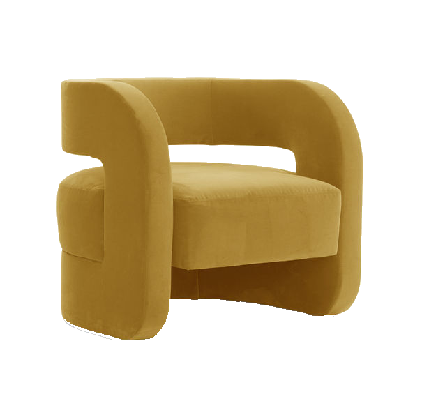 saffron yellow accent chair