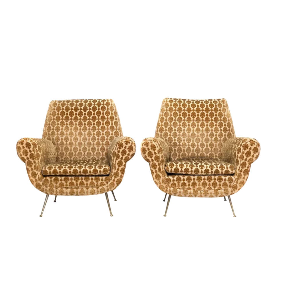 pair of vintage club chairs