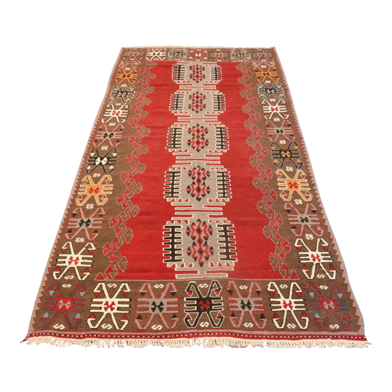 antique red kilim rug