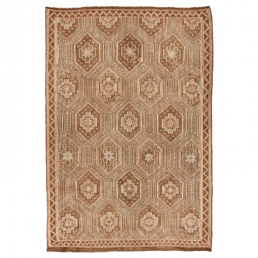 vintage neutral colored rug