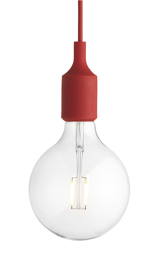 muuto red pendant light
