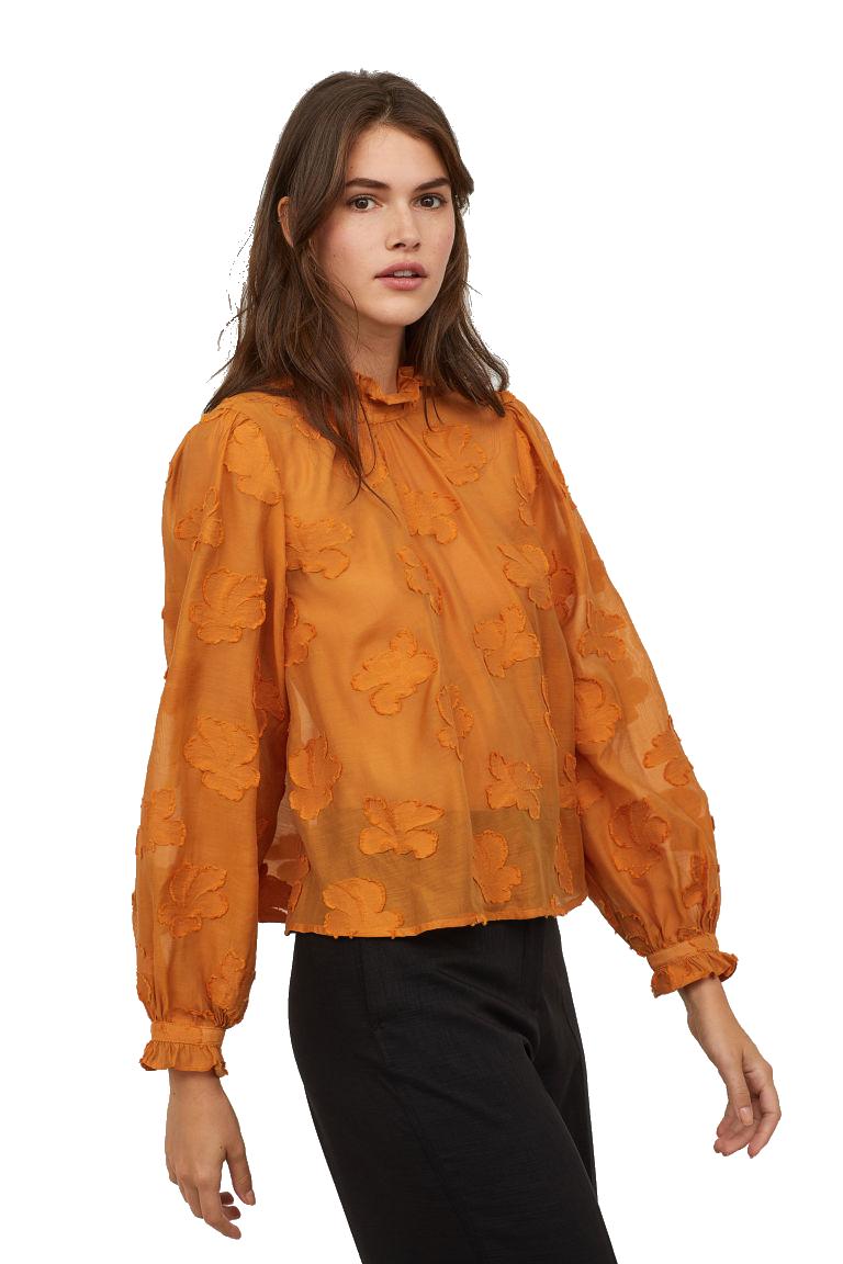 h&m marigold blouse