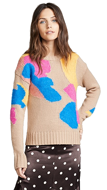 multi-colored sweater