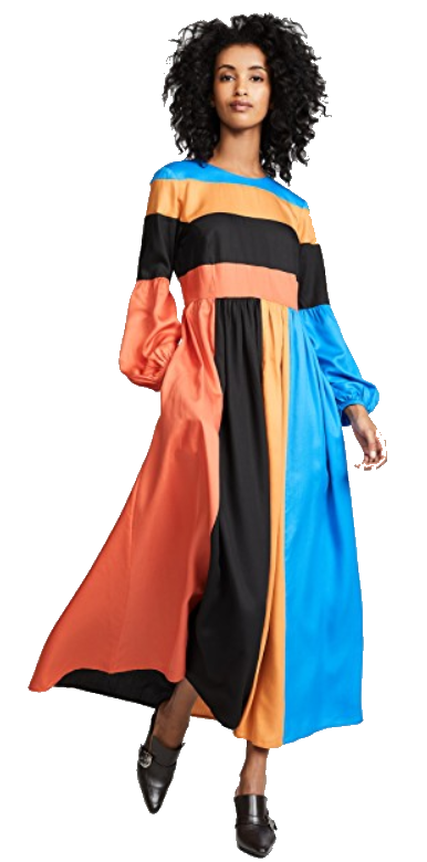 mara hoffman colorblock dress