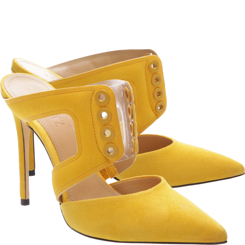schutz yellow mules