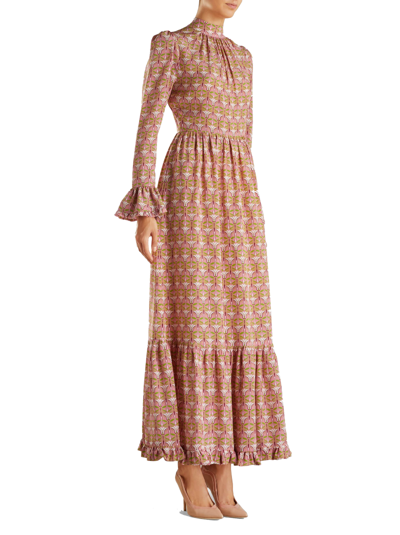la double j silk maxi dress