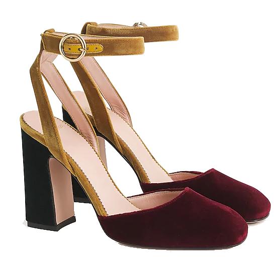 j.crew colorblock heels