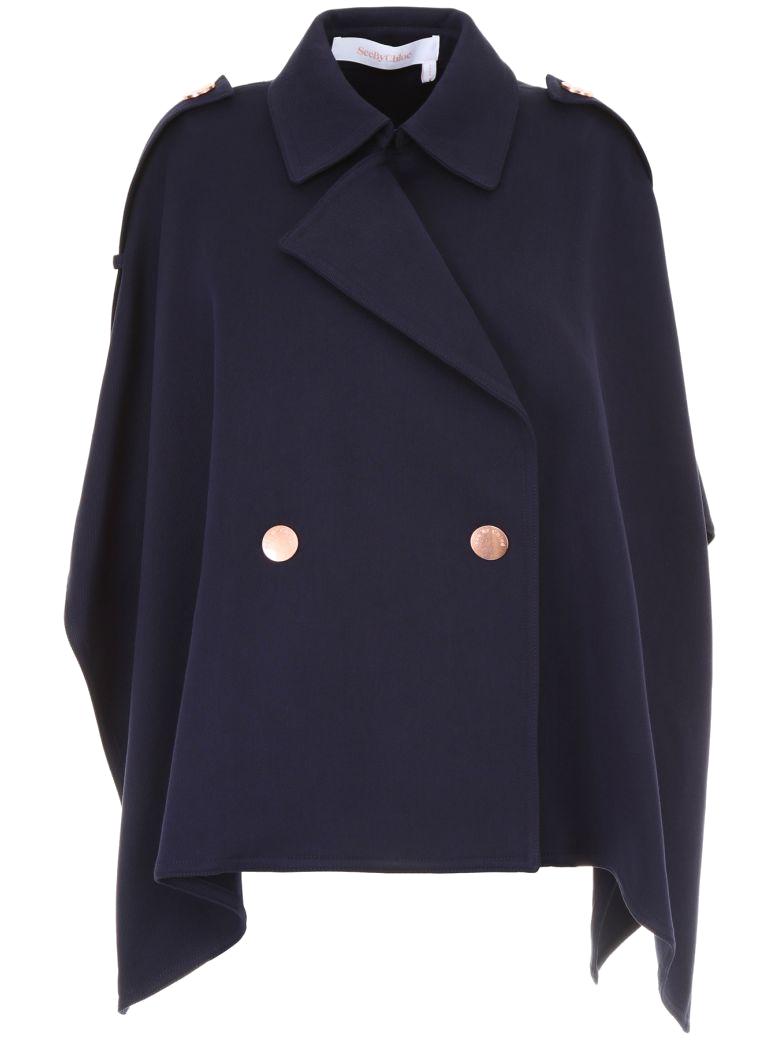 see by chloe navy coat