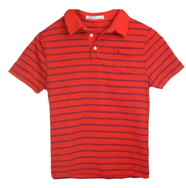 criquet red boys polo