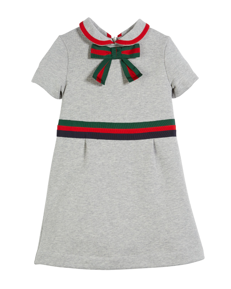 gucci girls bow neck dress