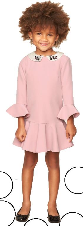 girls milly pink embellished dress
