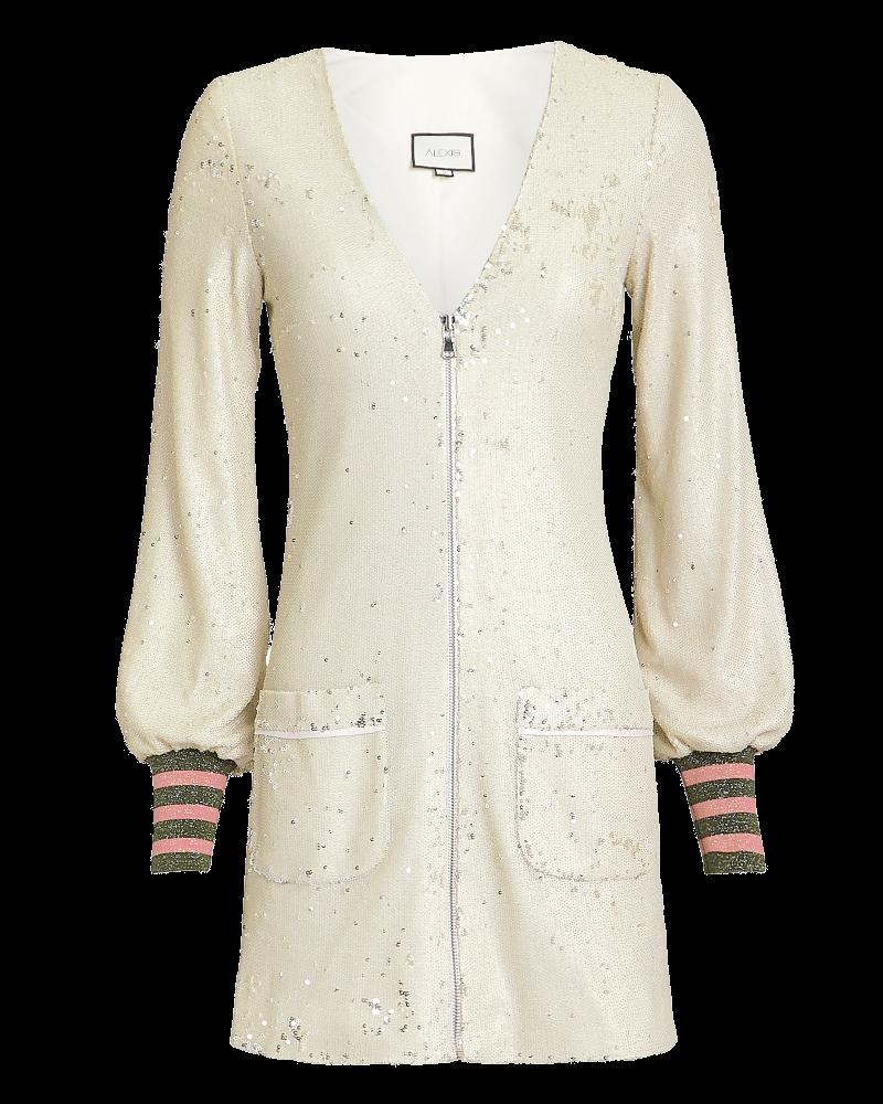 ivory sequin mini dress