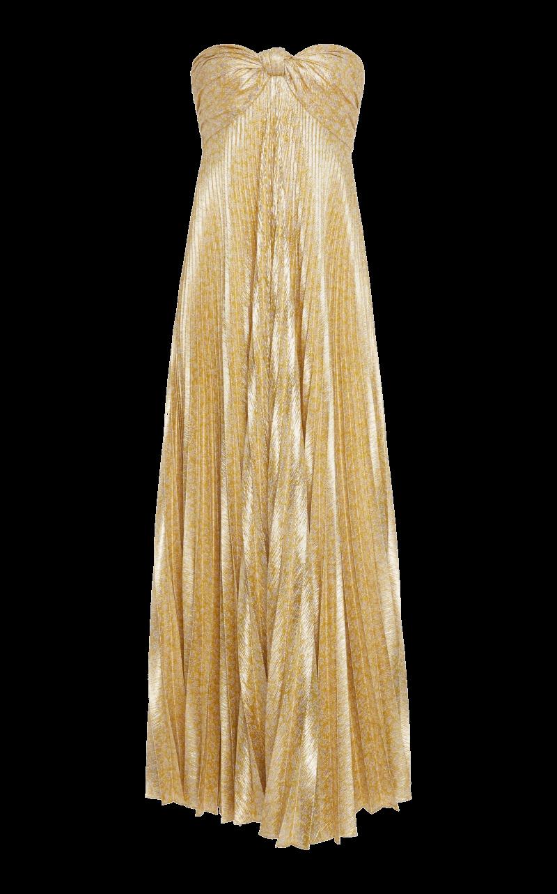 metallic gold maxi dress