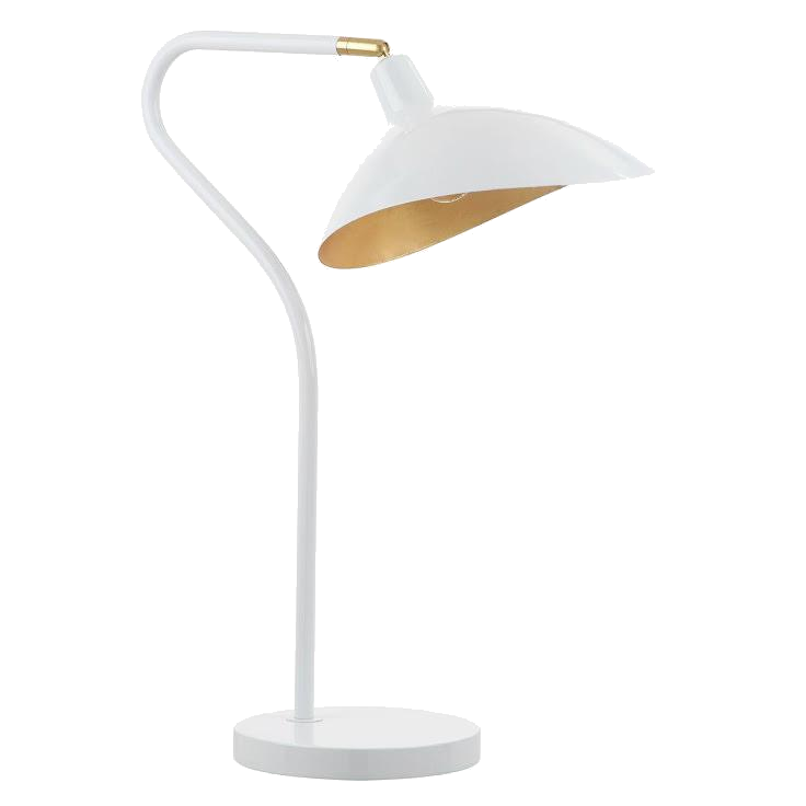 gold + white modern task lamp
