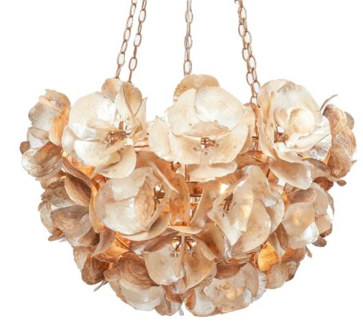 oyster shell floret chandelier