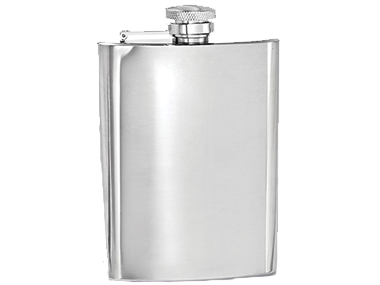 Stainless steel flasks come in 4 oz., 6 oz. or 8 oz sizes with varied shapes and styles.  Have Julee's Jewelry engraves something on it.