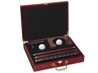 An executive putter set in it's own case for the golfer you know.