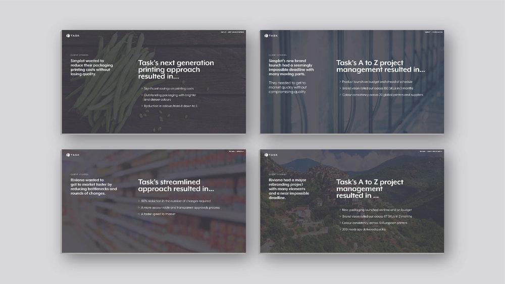 Case studies – Structure, content and design