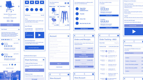 Wireframes, needs assessment
