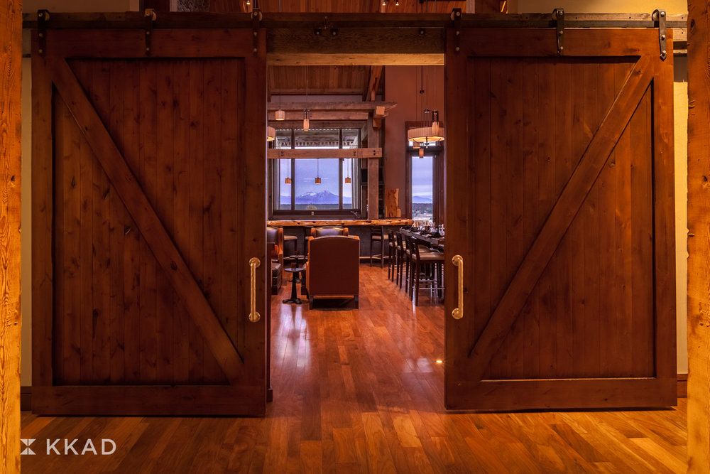 Range Restaurant Barn Door