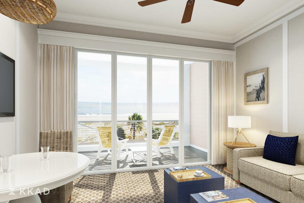 Jekyll Island Club Ocean Suites Guestroom