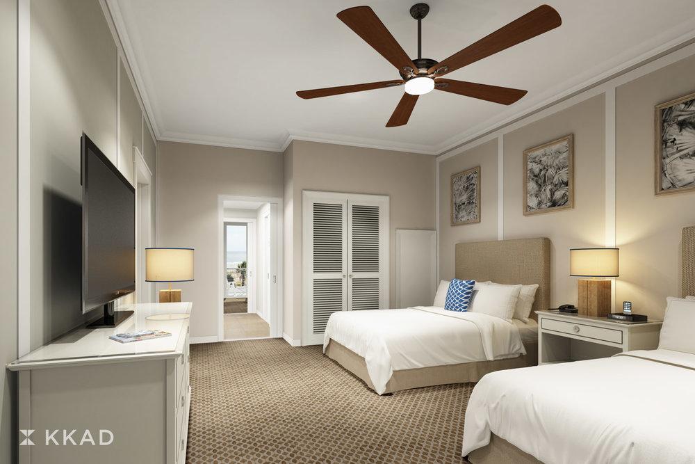 Jekyll Island Club Ocean Suites King Guestroom