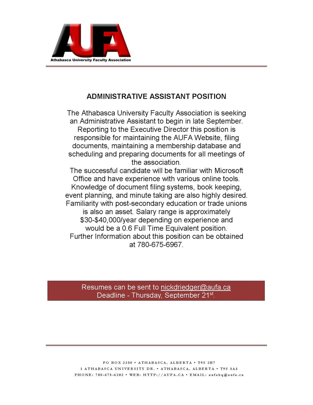 Administratvie Assistant Position - AUFA Website 09.17.jpg
