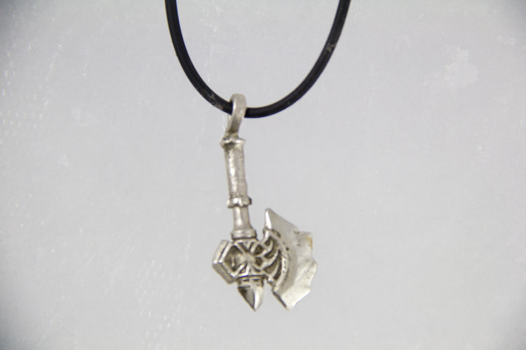 mjolnir thor pendant product leather mens hammer necklace jewelry ravens head rune thors viking othala axe perun s slavic