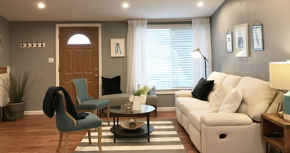 I decided to use the flooring as the motivation for all of the wood elements of the home. Keeping the space warm and inviting was key.