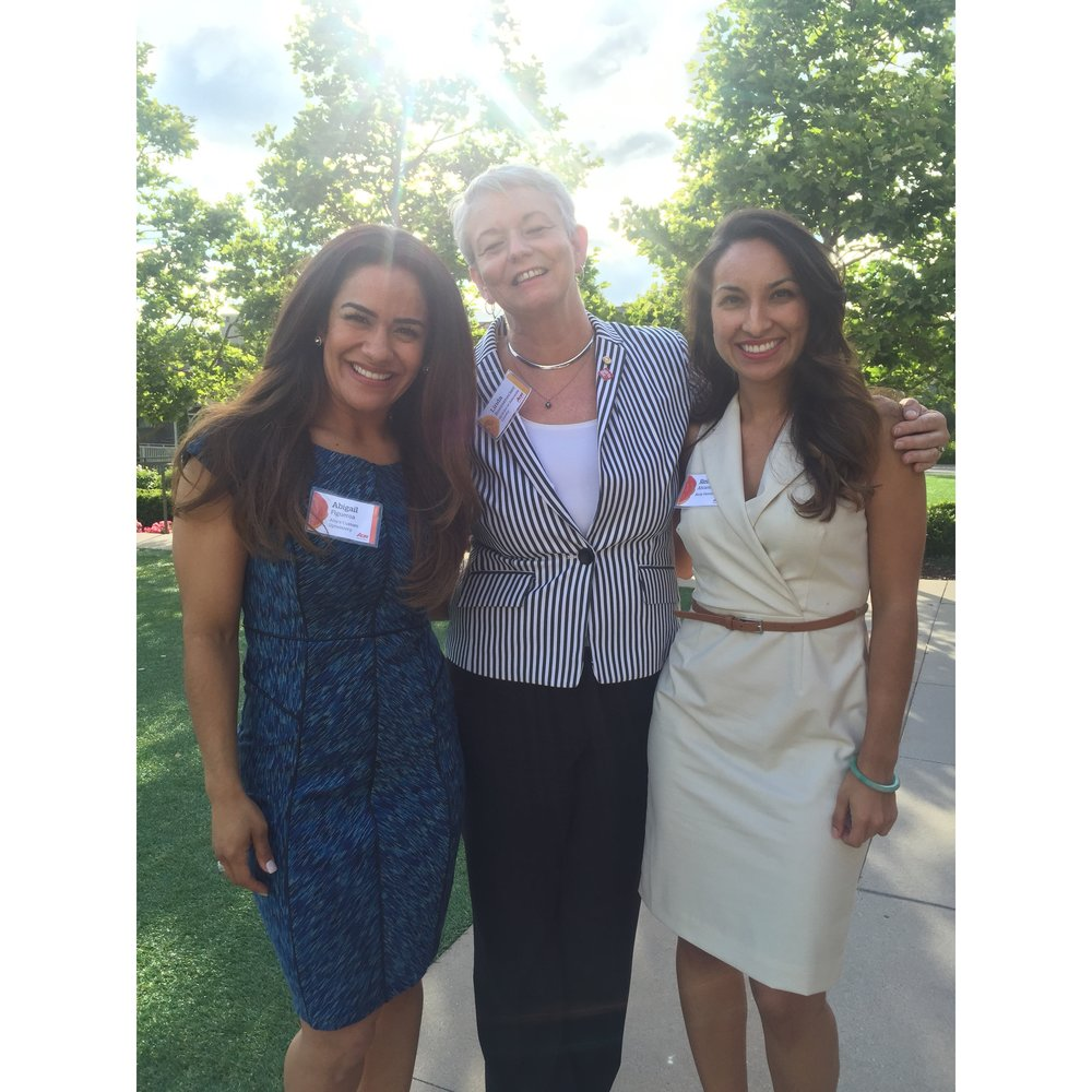 From right to left: Abigail Figueroa, Linda Boessenecker, Rebecca Alvarez.