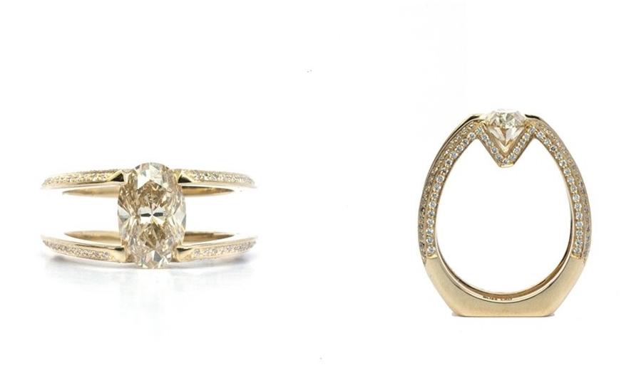 Bliss Lau engagement ring