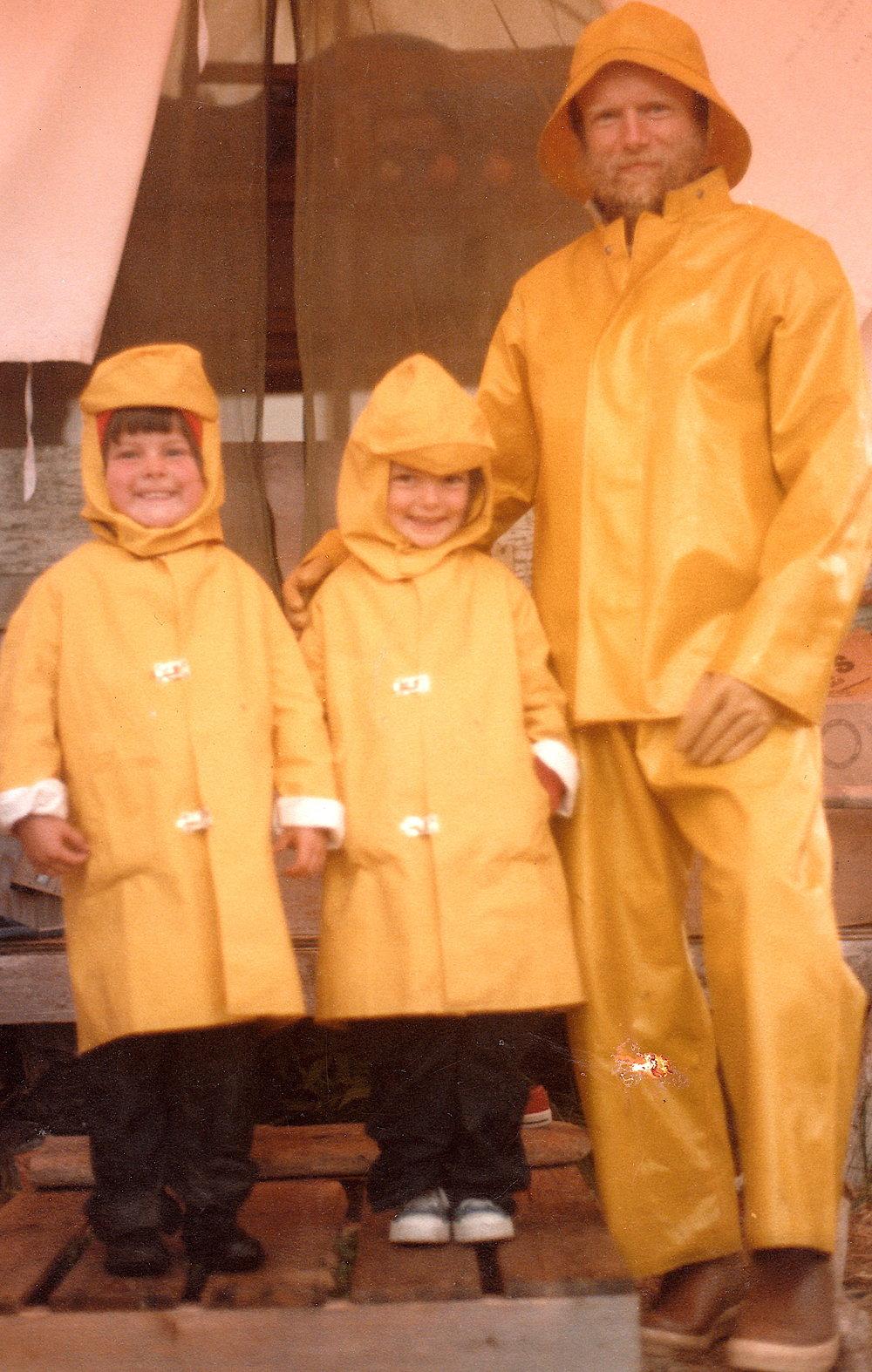 Kids in Raingear