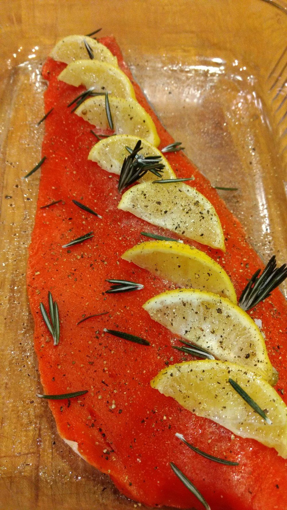 Salmon Lemon Love