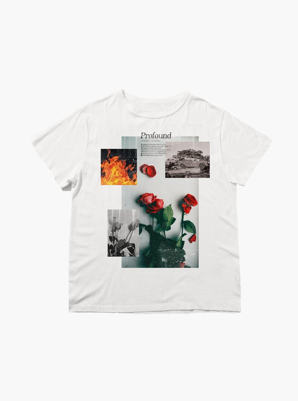1. Baptized by Fire Tee - Brand: Profound AestheticPrice: $46.00