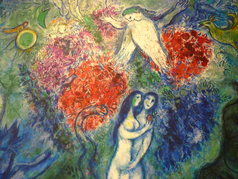 Adam and Eve, by Marc Chagall