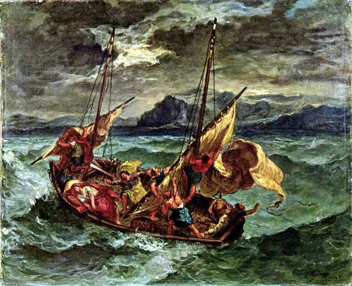 Christ and the Disciples on a Raging Sea, by Eugene Delacroix