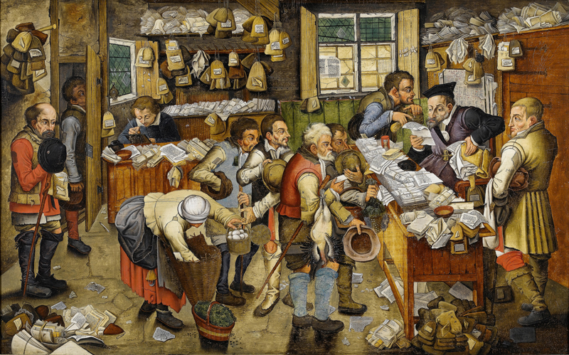 Payment of the Tithes (The Tax Collector), from the workshop of Pieter Brueghel the Younger