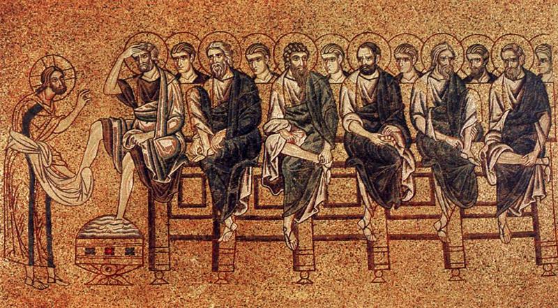 Christ Washing the Disciples' Feet, mosaic in the Basilica di San Marco