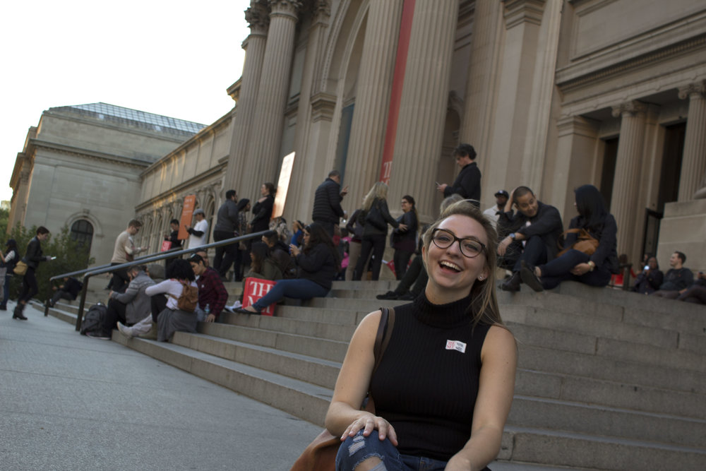 Simultaneously fulfilling my inner art history nerd and love for gossip girl on the MET steps.