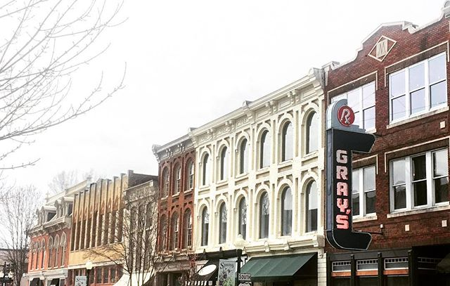 Franklin, TN // this historic Main Street downtown Franklin presents fine masonry details on each facade // don't forget to look up